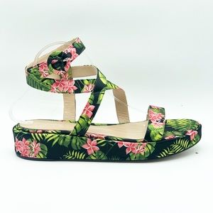 Gianvito Rossi Floral Ankle Wrap Sandals size 8.5